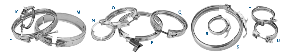 Clampco Customized V-Band Clamps K-U