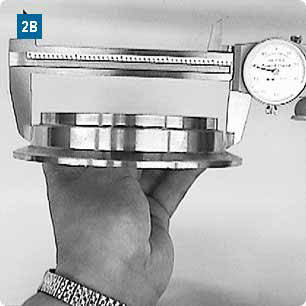 Measuring the Flange Base Diameter with calipers