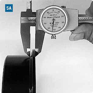 Measuring the flange base width
