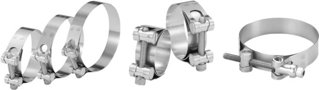 Barrel Hardware Clamps in Zinc Plated and Stainless Steel Barrels