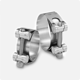 Barrel Hardware Clamps with Zinc Plated and Stainless Steel Barrels