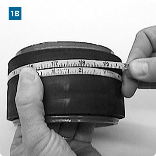 Measuring Nominal Size for Hose Clamp Application using a Tape Rule