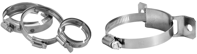 Worm Gear Clamps in Zinc Plated and Stainless Steel Worm Screw